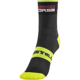 Castelli Rossocorsa 9 Socks black/yellow fluo